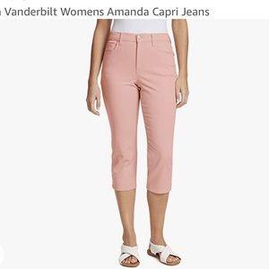 Gloria Vanderbilt   Amanda Blush Pink Capri Jean Shorts